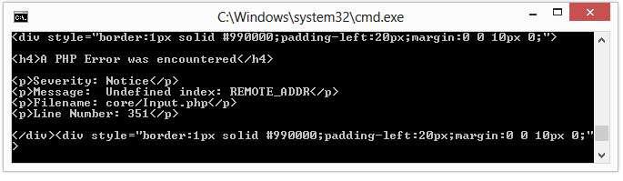 CodeIgniter เมื่อรัน Cronjob/CLI แล้วแสดง Error Undefined index: REMOTE_ADDR