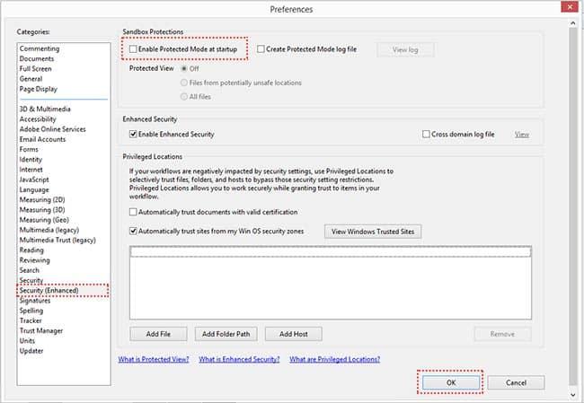 "Adobe Reader ไม่สามารถเปิดไฟล์ PDF แสดง ""error opening - Access denined"""