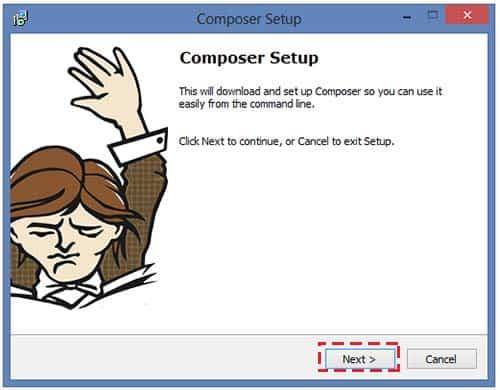 วิธีติดตั้งโปรแกรม Composer Dependency Manager for PHP