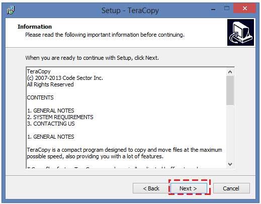 วิธีติดตั้งโปรแกรม TeraCopy