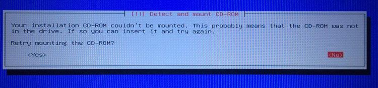 วิธีแก้ปัญหา Detect และ Mount CD-ROM ในการติดตั้ง Kali Linux